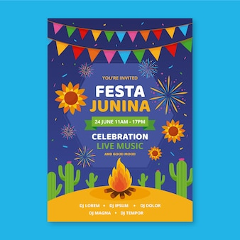 Festa junina template para flyer style