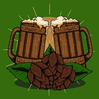 Festival de cerveza estilo clásico grabado