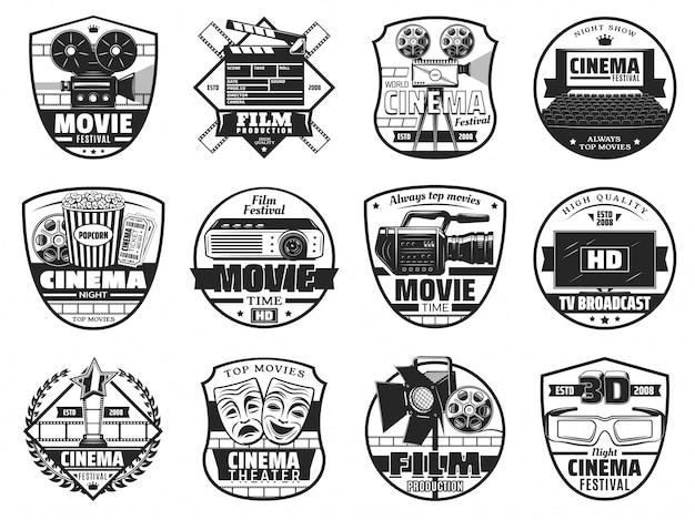 Festival de cine, iconos de teatro cinematográfico