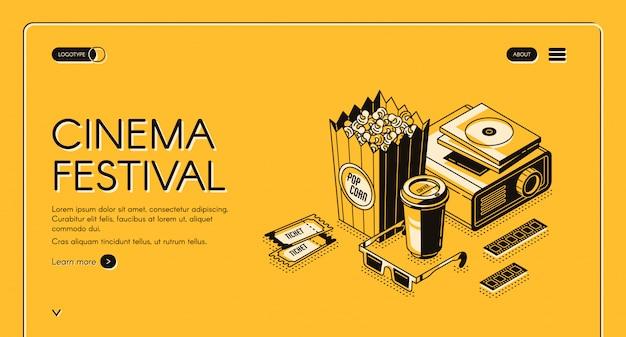 Festival de cine película tiempo entretenimiento banner
