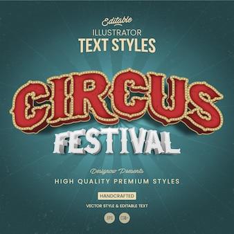 Festival de circo estilo de texto