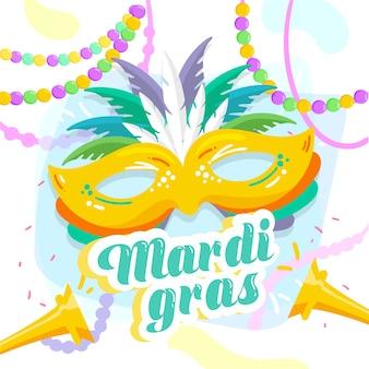 Festival colorido de mardi gras