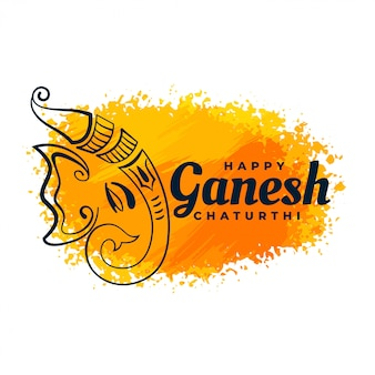 Festival creativo de acuarela de diseño de lord ganesha