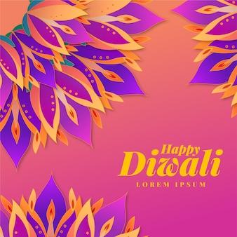 Festival de diwali de diseño plano