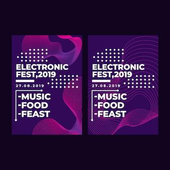 Festival electrónico de banner web cuadrado moderno para aplicación móvil de redes sociales