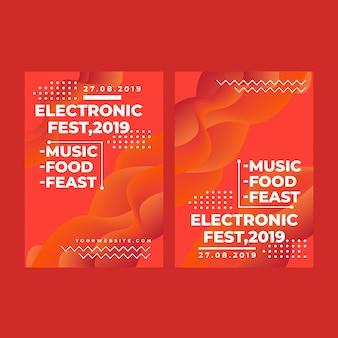 Festival electrónico de banner web cuadrado moderno para aplicaciones móviles de redes sociales