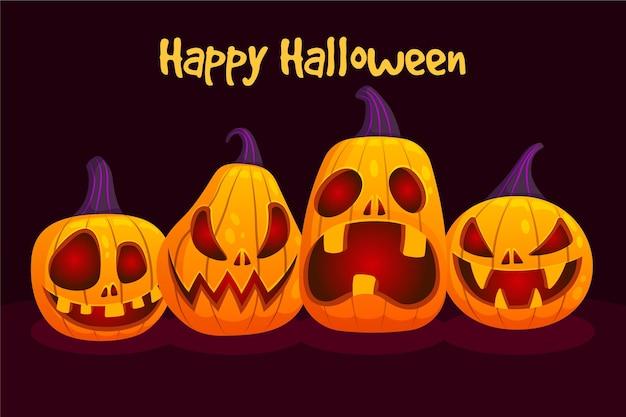 Festival de halloween estilo de colección de calabazas