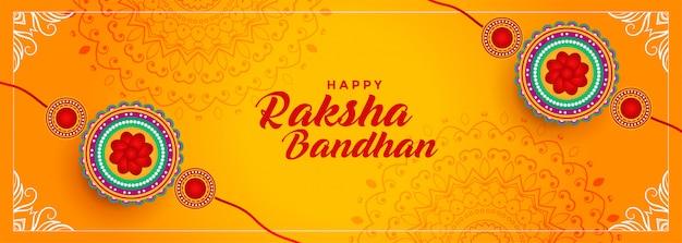 Festival hindú de diseño de banner raksha bandhan