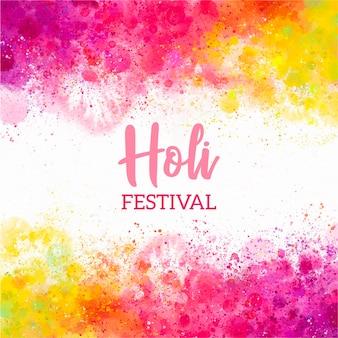 Festival holi de acuarela