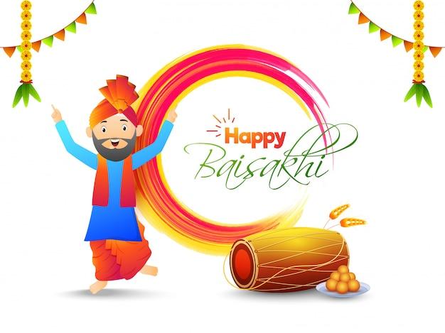 Festival de la india concepto baisakhi.