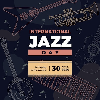 Festival internacional del día del jazz vintage