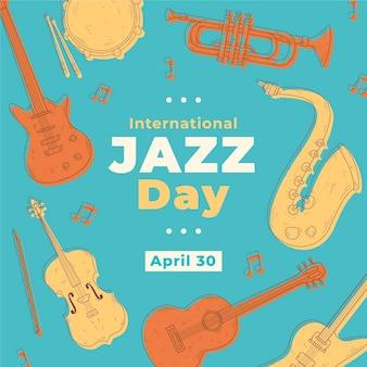 Festival internacional de instrumentos del día del jazz vintage