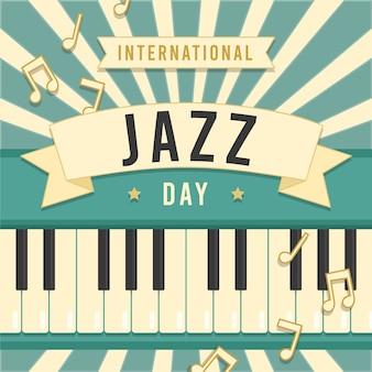 Festival internacional de piano del día del jazz vintage