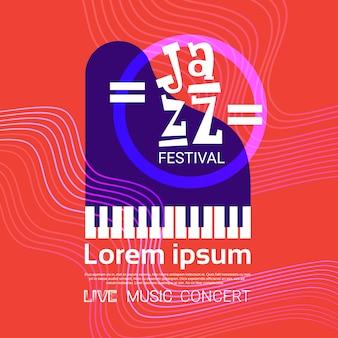 Festival de jazz música en vivo concierto cartel publicidad banner