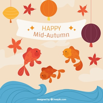 Festival de medio otoño, tres peces