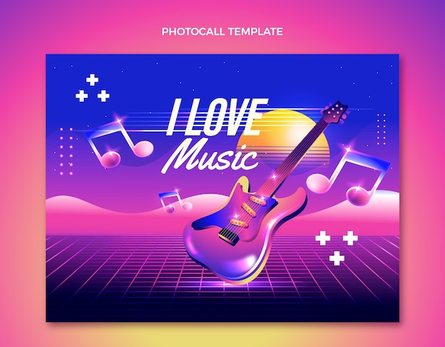 Festival de música colorido photocall