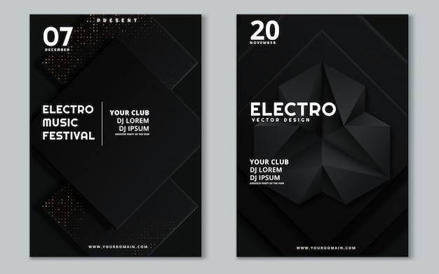 Festival de música electrónica y cartel de electro summer wave.