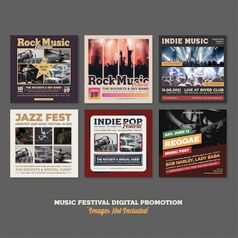 Festival de música evento festival digital promoción