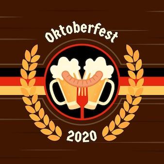 Festival de la oktoberfest plana