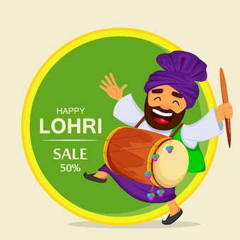 Festival popular de invierno de punjabi lohri