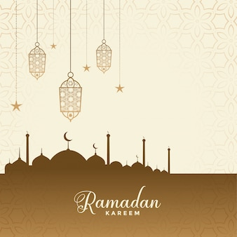 Festival de ramadán kareem desea fondo de tarjeta