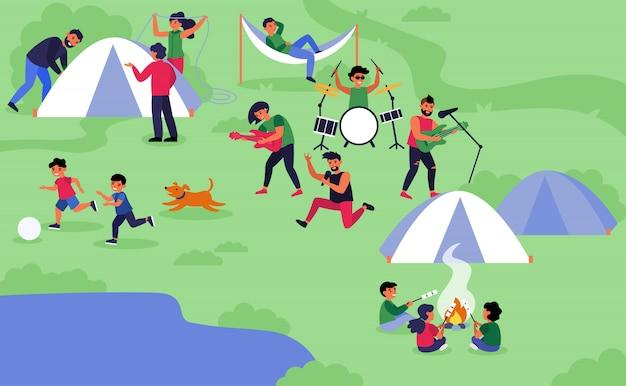 Festival de rock al aire libre