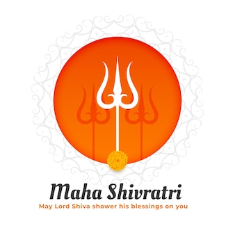 Festival tradicional maha shivratri con diseño trishul