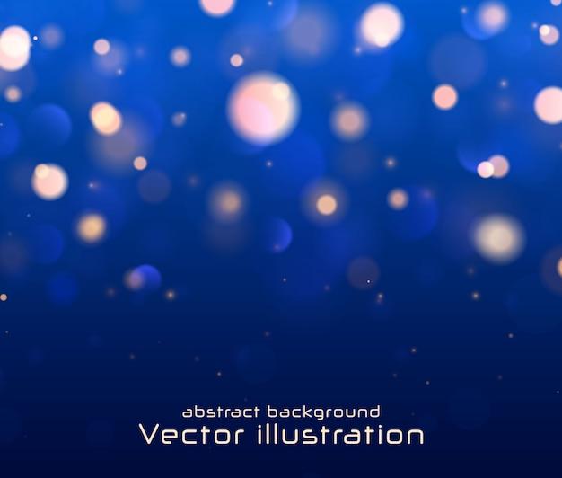 Festivas luces luminosas púrpuras, doradas, azules