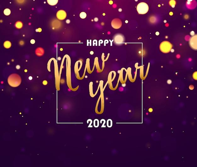 Festivo fondo morado. feliz año nuevo.