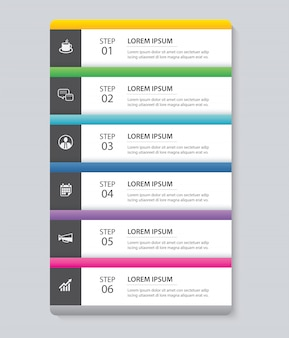 Ficha de infografía de datos plantilla de índice de papel.