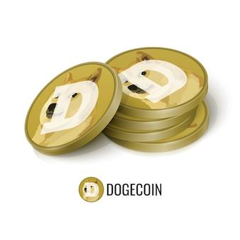 Fichas de criptomonedas dogecoin