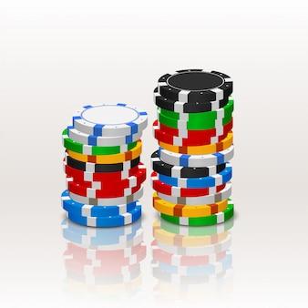 Fichas de póker en una pila