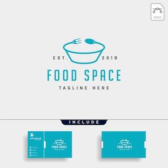 Fichero de la ilustración del elemento del icono del logotipo de la comida