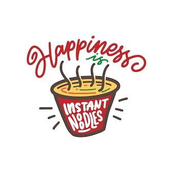 Fideos instantáneos de felicidad
