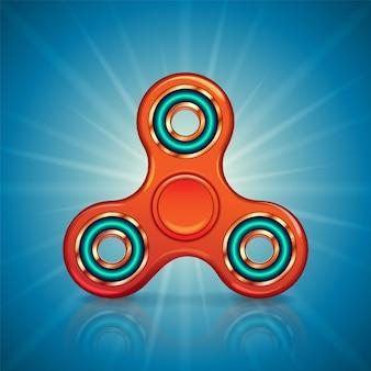 Fidget spinner realista. juguete para aliviar el estrés. hiladora de mano de moda.