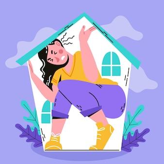 Fiebre de cabina ilustrada