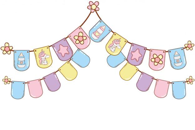 Fiesta de banderines bebé