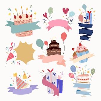 Fiesta de celebración, conjunto de vectores de ilustración de celebración