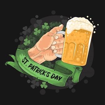 Fiesta de la cerveza grande del día de san patricio
