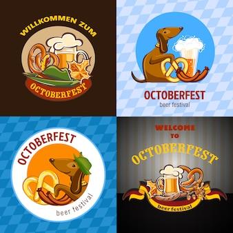 Fiesta de la cerveza oktoberfest fondos alemanes