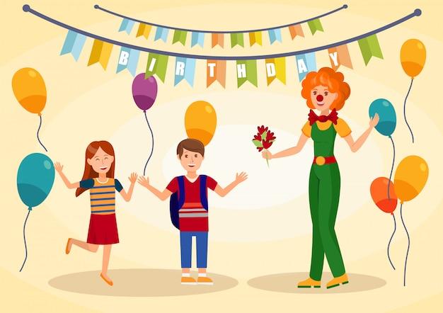 Fiesta de cumpleaños, celebración vector illustration
