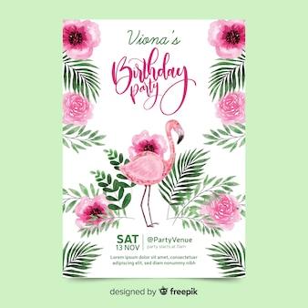 Fiesta de cumpleaños con letras