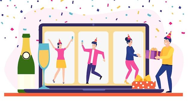 Fiesta de cumpleaños en línea,