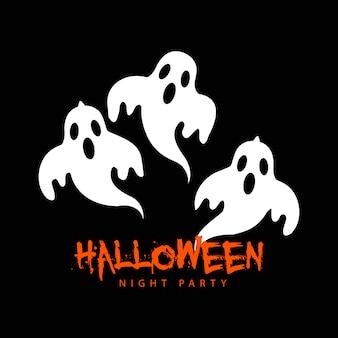 Fiesta fantasma de halloween