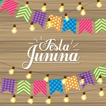 Fiesta de fiesta y luces para festa junina.