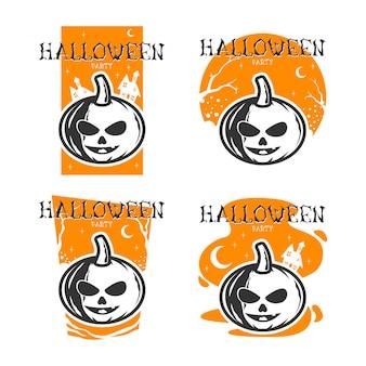 Fiesta de halloween (diseño plano)