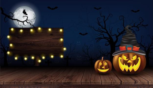 Fiesta halloween fondo oscuro