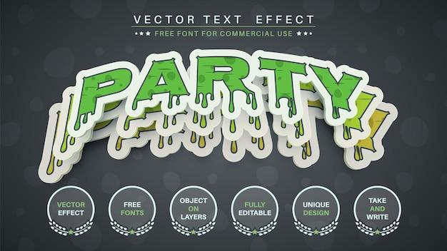 Fiesta de hallowen editar estilo de fuente de efecto de texto Vector Premium