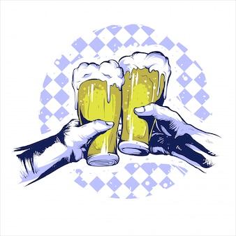 Fiesta de la mano de la cerveza