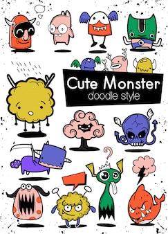 Fiesta de monstruos de dibujos animados